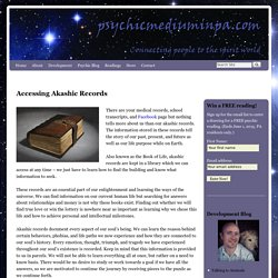 Reading akashic records and the Book of Life