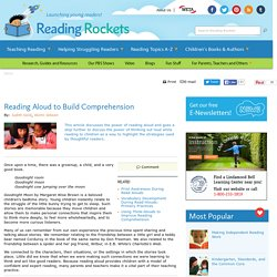 Reading Aloud to Build Comprehension