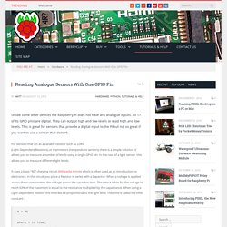 Reading Analogue Sensors With One GPIO Pin