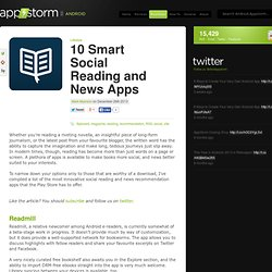10 Smart Social Reading and News Apps « Android.AppStorm