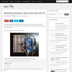 Reading Arduino data directly into R