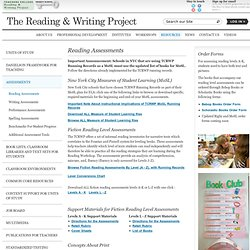 teachers reading writing project