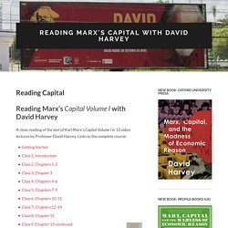 Reading Marx's Capital with David Harvey » Reading Capital
