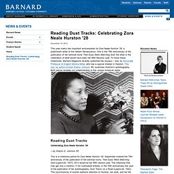Reading Dust Tracks: Celebrating Zora Neale Hurston '28
