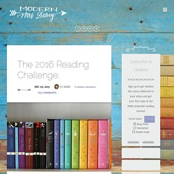 The 2016 Reading Challenge. – Modern Mrs. Darcy