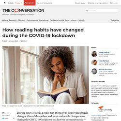 How reading habits have changed during the COVID-19 lockdown