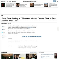 Study Finds Reading to Children of All Ages Grooms Them to Read More on Their Own
