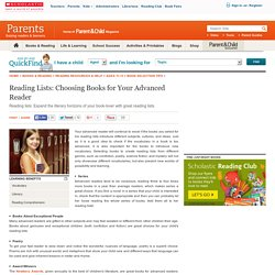 Reading Lists: Choosing Books for Your Advanced Reader