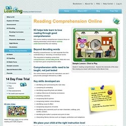 Online reading comprehension lessons for kids