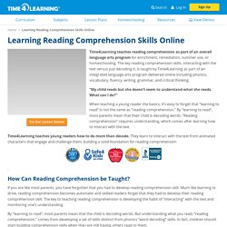 Reading Comprehension Learning Tools - Time4Learning