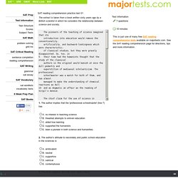 SAT reading comprehension practice test 01