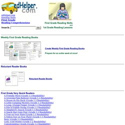 First Grade Reading Comprehensions and 1st Grade Reading Lessons
