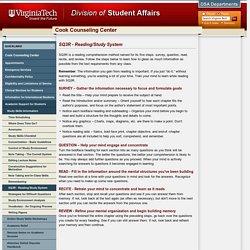 SQ3R - Reading/Study System