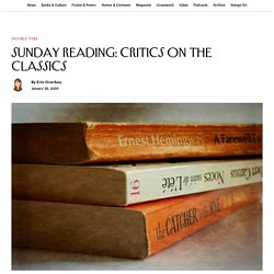 Sunday Reading: Critics on the Classics