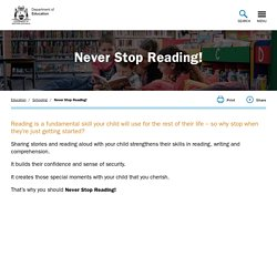 Never Stop Reading! - The Department of Education
