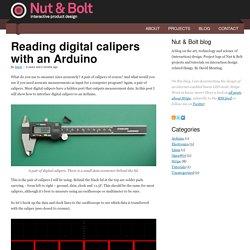 Reading digital calipers with an Arduino - Nut & Bolt