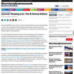 Summer Reading List: The B-School Edition