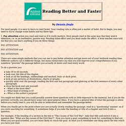 Reading Efficiently