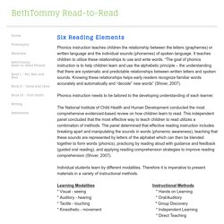 Reading Elements - BethTommy Read-to-Read