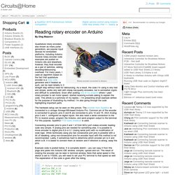 Reading rotary encoder on Arduino « Circuits@Home