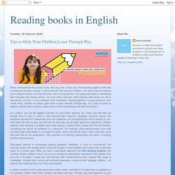 Reading books in English: Tips to Help Your Children Learn Through Play