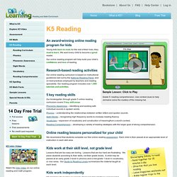 Online reading enrichment program for kids