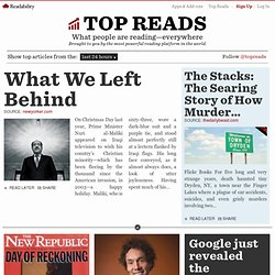 Top Reads - What people are reading—everywhere