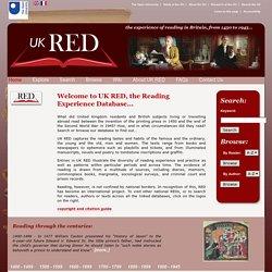 UK Reading Experience Database