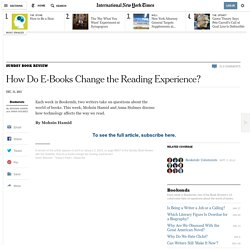 How Do E-Books Change the Reading Experience?
