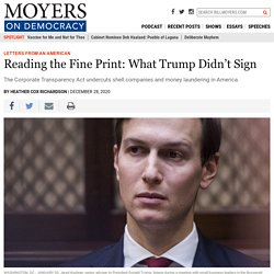 Reading the Fine Print: What Trump Didn't Sign