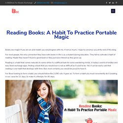 Reading Books - A Healthy Habit Formation