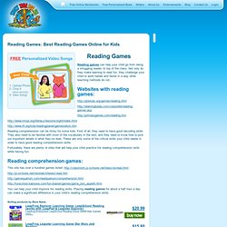 Reading Games: Best Reading Games Online for Kids