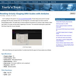 Reading Grizzly iGaging DRO Scales with Arduino