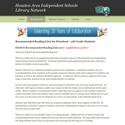 Reading Lists - Houston Area Independent Schools Library Network