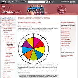 The guided reading colour wheel / Guided reading texts / The Ready to Read series / Ready to Read / Instructional Series