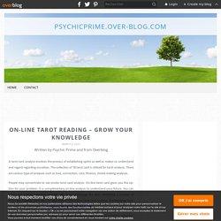 On-lineTarotreading–Grow your knowledge