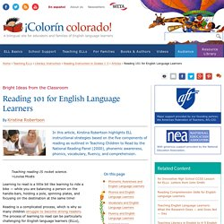 Reading 101 for English Language Learners