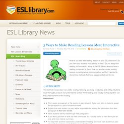 3 Ways to Make Reading Lessons More Interactive