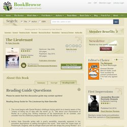 Reading guide for The Lieutenant by Kate Grenville