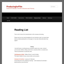 Reading List | ProducingforFilm