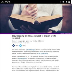 How reading a little each week is a form of life support