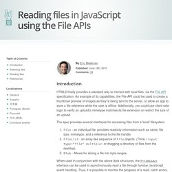 Reading local files in JavaScript