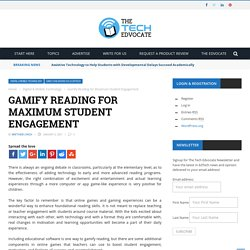 Gamify Reading for Maximum Student Engagement