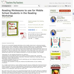 Reading Minilessons to use for Middle School... by Kasey Kiehl