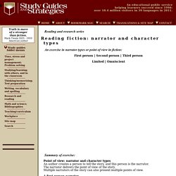 Reading fiction: narrator and character types