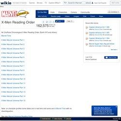 X-Men Reading Order - Marvel Database - Wikia