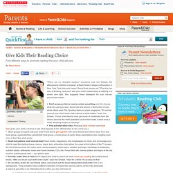 Give Kids Their Reading Choice