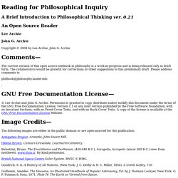 Reading for Philosophical Inquiry