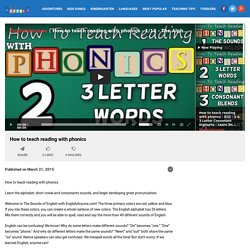 How to teach reading with phonics - Educational Kids English Videos