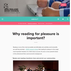Why reading for pleasure is important?